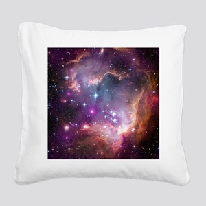 galaxy stars space nebula pin Square Canvas Pillow