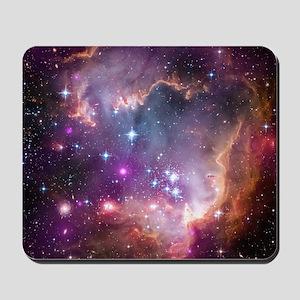 galaxy stars space nebula pink purple na Mousepad