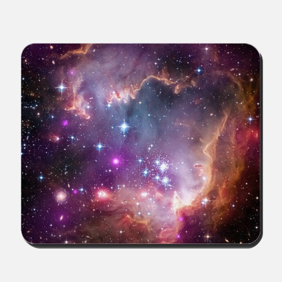 galaxy stars space nebula pink purple na Mousepad
