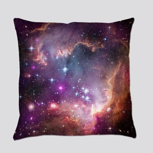 galaxy stars space nebula pink pur Everyday Pillow