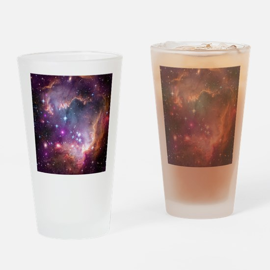 galaxy stars space nebula pink purp Drinking Glass