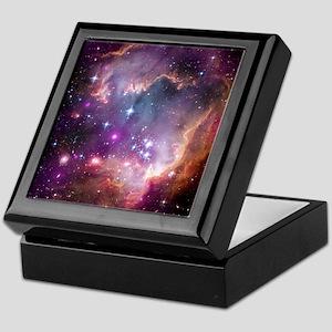 galaxy stars space nebula pink purple Keepsake Box