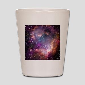 galaxy stars space nebula pink purple n Shot Glass