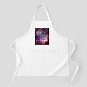 galaxy stars space nebula pink purple nasa p Apron