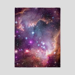 galaxy stars space nebula pink purple n Twin Duvet