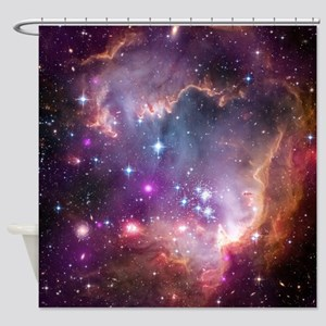 galaxy stars space nebula pink purp Shower Curtain