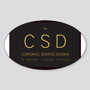 The C S D Oval Sticker