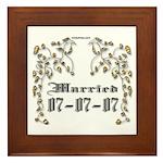 Anniversary Married 07/07/07 Framed Tile