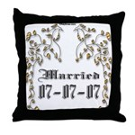 Anniversary Married 07/07/07 Throw Pillow
