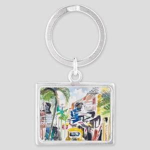St Maarten Alley Landscape Keychain