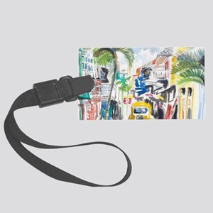 St Maarten Alley Large Luggage Tag