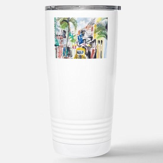 St Maarten Alley Stainless Steel Travel Mug