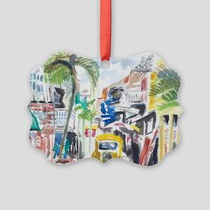 St Maarten Alley Picture Ornament