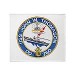 USS JOHN W. THOMASON Throw Blanket