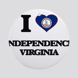 I love Independence Virginia Ornament (Round)
