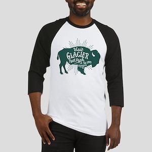 Glacier Buffalo Sunburst Green Baseball Jersey