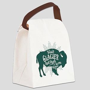 Glacier Buffalo Sunburst Green Canvas Lunch Bag