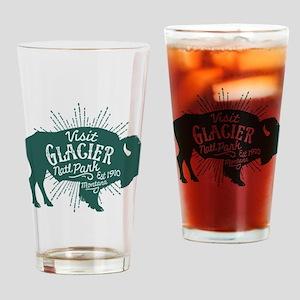 Glacier Buffalo Sunburst Green Drinking Glass