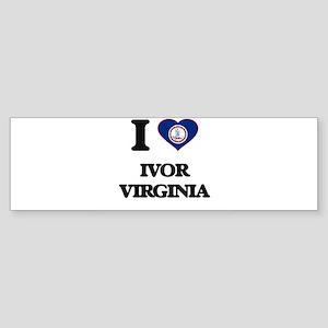 I love Ivor Virginia Bumper Sticker