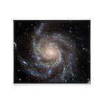 Hubble Messier 101 Spiral Galaxy Throw Blanket