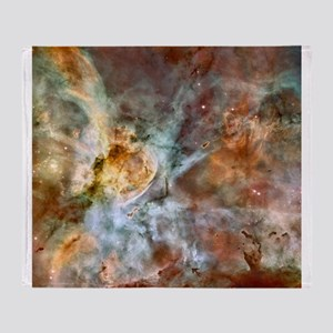 Hubble Telescope Carina Nebula Throw Blanket