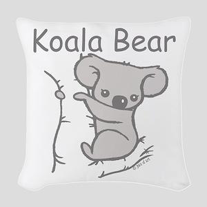 Koala Bear Woven Throw Pillow