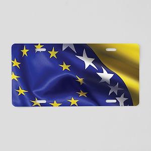BosnianFlag Aluminum License Plate