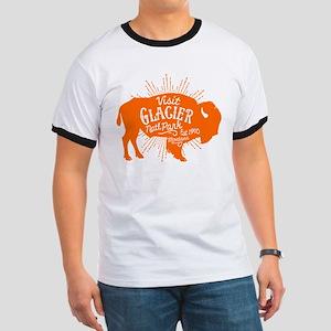 Glacier Buffalo Sunburst Orange Ringer T