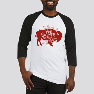 Glacier Buffalo Sunburst Red Baseball Jersey