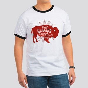 Glacier Buffalo Sunburst Red Ringer T