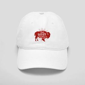 Glacier Buffalo Sunburst Red Cap