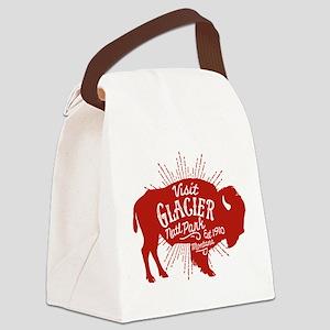 Glacier Buffalo Sunburst Red Canvas Lunch Bag