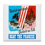 United We Stand Tile Coaster