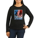 United We Stand (Front) Women's Long Sleeve Dark T