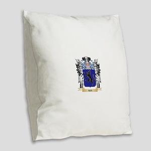 Aba Coat of Arms - Family Cres Burlap Throw Pillow