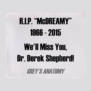 "RIP ""McDREAMY"" Throw Blanket"