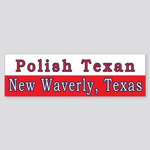 New Waverly Polish Texan Bumper Sticker