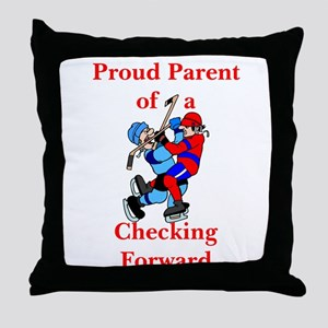 Proud of Checking Forward Throw Pillow