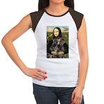 Mona's 2 Dobies Women's Cap Sleeve T-Shirt