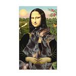 Mona's 2 Dobies Sticker (Rectangle)