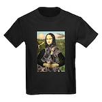 Mona's 2 Dobies Kids Dark T-Shirt