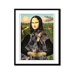 Mona's 2 Dobies Framed Panel Print