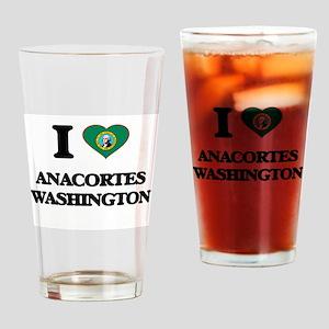 I love Anacortes Washington Drinking Glass