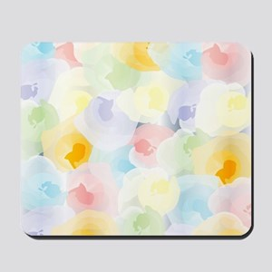 Abstract Pastel Floral Mousepad