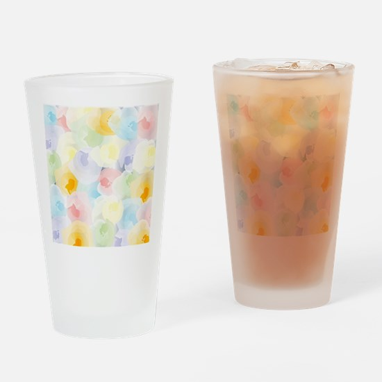 Abstract Pastel Floral Drinking Glass