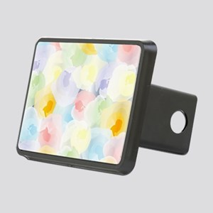 Abstract Pastel Floral Rectangular Hitch Cover
