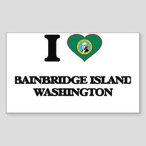 I love Bainbridge Island Washington Sticker