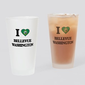 I love Bellevue Washington Drinking Glass