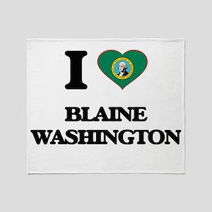 I love Blaine Washington Throw Blanket