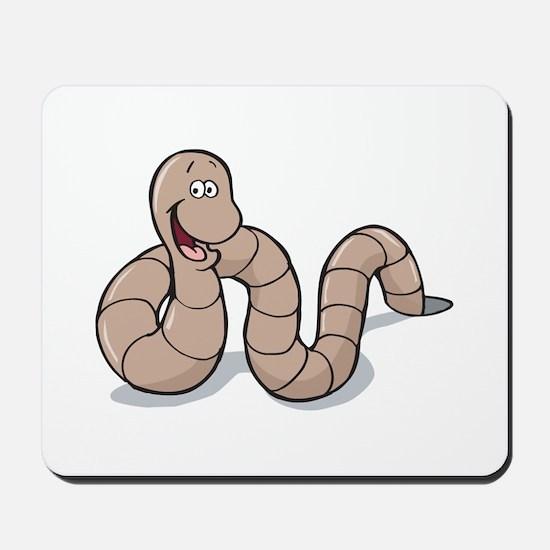 Cute Little Earthworm Mousepad